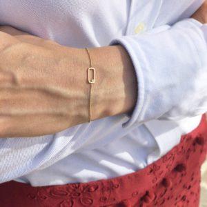 Bracelet infinity carré